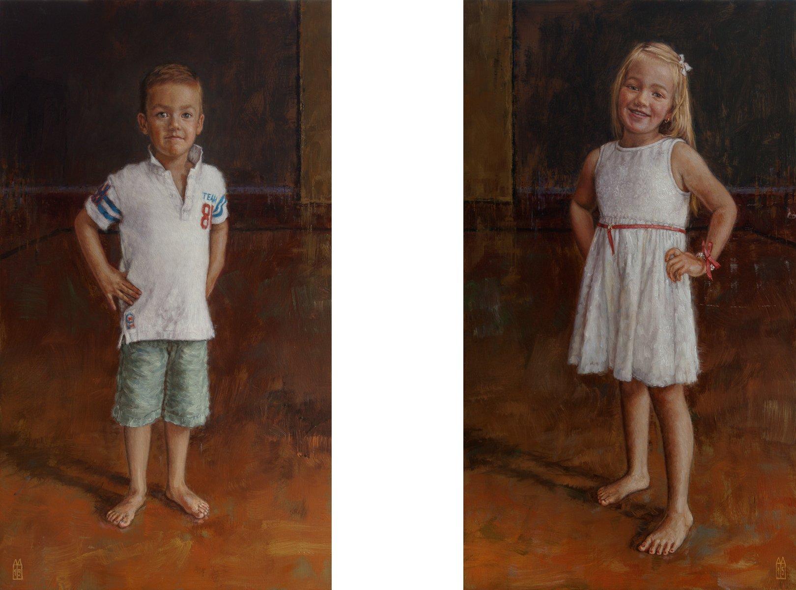 Kinderportret schilderij in olieverf kinderportretten en portret