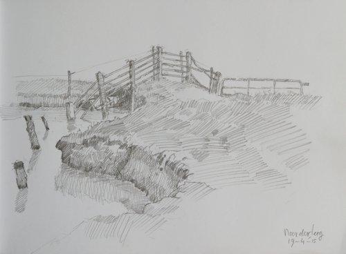 In het water lopend hek