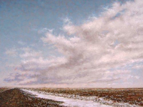 Noorderleeg, wolk boven slenk