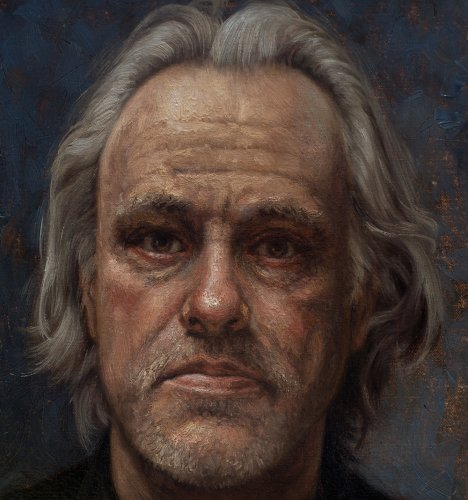 Zelfportret met penseel (detail)