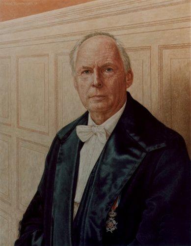 Hoogleraar portret, Prof. Dr. H.J. Huisjes (RUG)