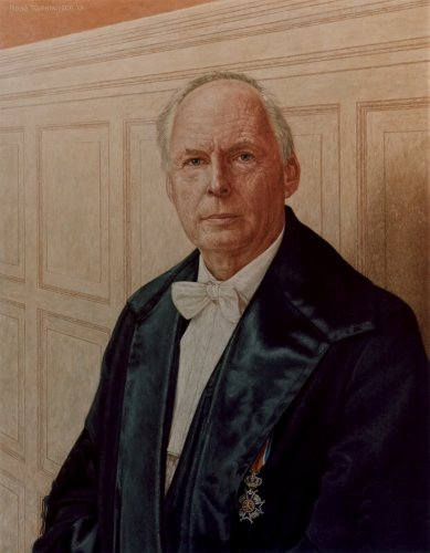 Hoogleraar portret, Prof. H.J. Huisjes (RUG)