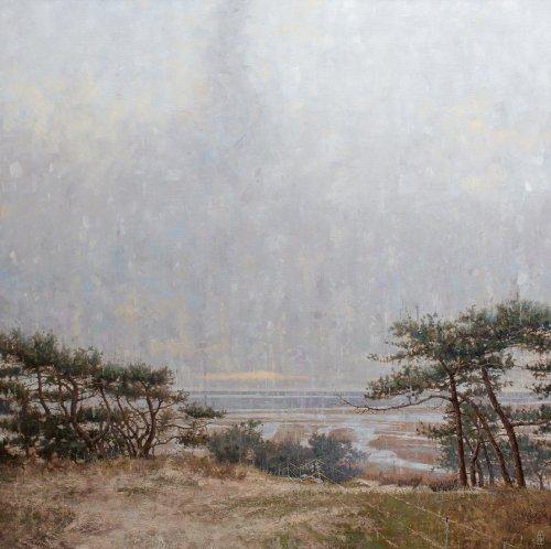 Uitzicht op Waddenzee vanaf Seinpaalduin Terschelling