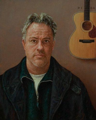 Zelfportret met gitaar