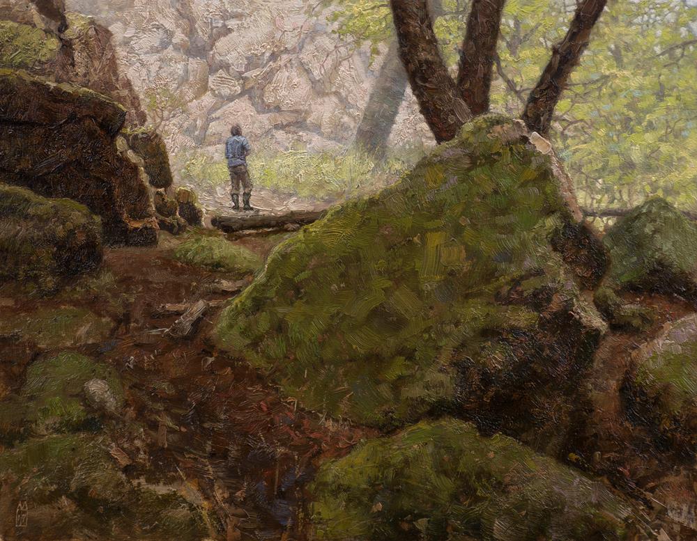 Het woud bij Autun, Bourgogne, Frankrijk