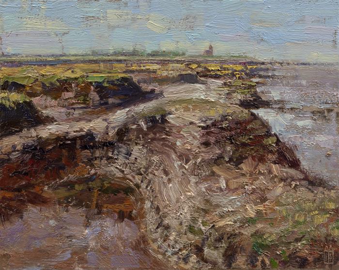 Aan de kust bij Wierum